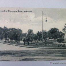 Postales: ANTIGUA POSTAL -WEST FRONT OF DOMMER'S PARK, MAKASSAR- CIRCULADA - ESCRITA CON SELLO - BUEN ESTADO -. Lote 45333896