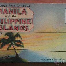 Postales: NUEVE POSTALES ANTIGUAS DE MANILA. Lote 48942925