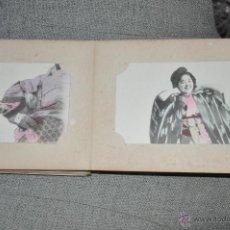 Postales: ANTIGUO ALBUM DE POSTALES JAPONESAS , TOTAL 52 POSTALES DE JAPÓN , GEISHA , PAISAJES ,. Lote 49174536