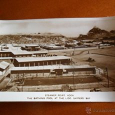 Postales: STEAMER POINT - ADEN - THE BATHING POOL AT THE LIDO - SAPPERS BAY - YEMEN - A. BASSI - SIN CIRCULAR. Lote 50507845