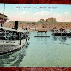 Postales: PHILIPPINES, FILIPINAS, MANILA, POSTAL, OLD POSTCARD, BINONDO CANAL, NO CIRCULADA. Lote 51343065