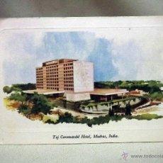 Postales: TARJETA POSTAL, TAJ COROMANDEL HOTEL, MADRAS, INDIA, CIRCULADA, CON SELLOS. Lote 51581211