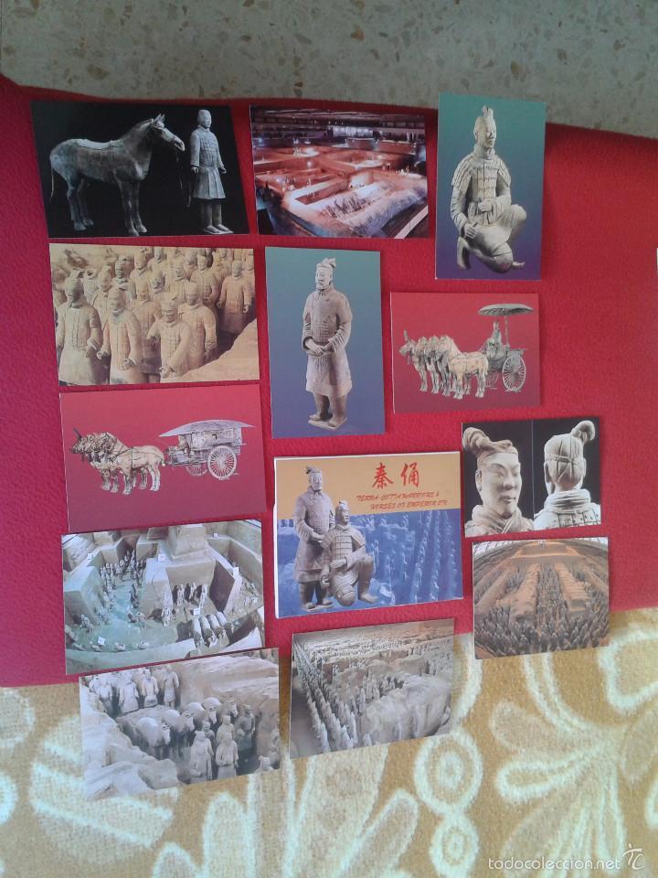 Postales: LOTE COLECCION DE 12 POSTALES POSTCARDS GUERREROS Y CABALLOS TERRACOTA WARRIORS AND HORSES CHINA VER - Foto 2 - 55364406