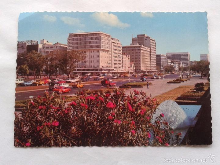 POSTAL -- FILIPINAS - ROXAS BLVD. AND FLOWERS -- CIRCULADA -- (Postales - Postales Extranjero - Asia)