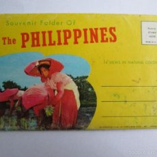 Postales: SOUVENIR FOLDER OF THE PHILIPPINES 14 VIEWS COLOR. Lote 57391667