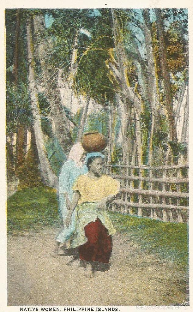ANTIGUA POSTAL ISLAS FILIPINAS MUJER NATIVA NATIVE WOMEN MANILA PHILIPPINE ISLANDS (Postales - Postales Extranjero - Asia)