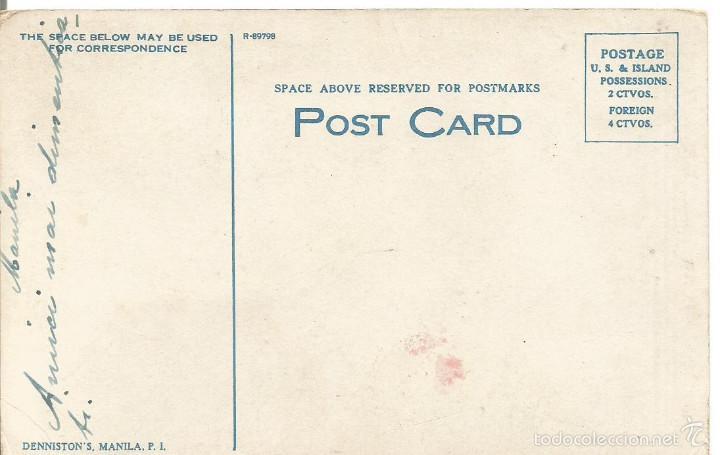 Postales: ANTIGUA POSTAL FILIPINAS LUNETA MANILA DENNISTON´S MANILA P I PHILIPPINE ISLANDS - Foto 2 - 58230008