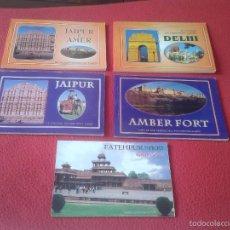 Postales: LOTE DE 5 CUADERNOS LIBRETAS DE POSTALES DE LA INDIA. POSTAL. POSTCARDS POST CARD. VER FOTO/S Y DESC. Lote 60332423