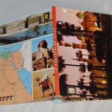 Postales: LIBRITO, 10 TARJETAS POSTALES - RECUERDO DE EGIPTO - 10 PHOTOCOLOR EGYPT. Lote 61255835