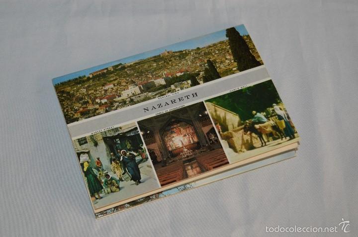 Postales: Librito, 10 Tarjetas POSTALES - Recuerdo de NAZARETH - 10 IMÁGENES EN COLOR - Foto 2 - 61256959