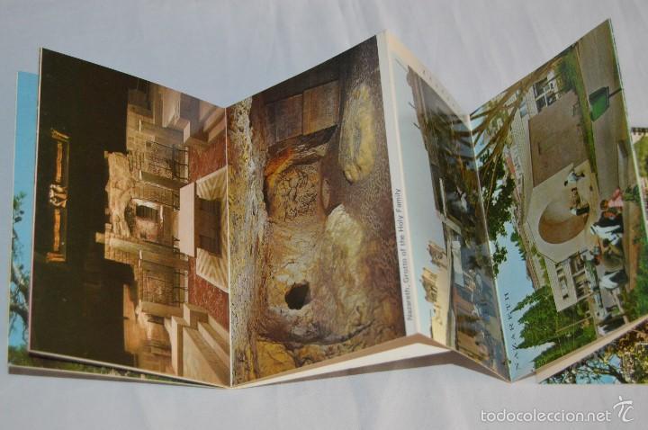 Postales: Librito, 10 Tarjetas POSTALES - Recuerdo de NAZARETH - 10 IMÁGENES EN COLOR - Foto 3 - 61256959