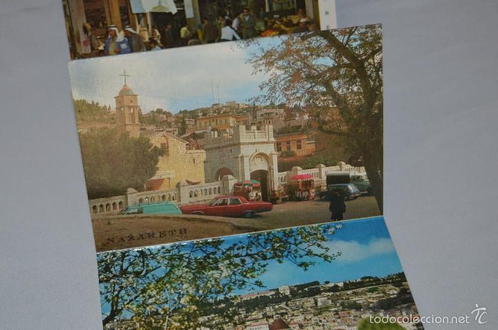 Postales: Librito, 10 Tarjetas POSTALES - Recuerdo de NAZARETH - 10 IMÁGENES EN COLOR - Foto 4 - 61256959