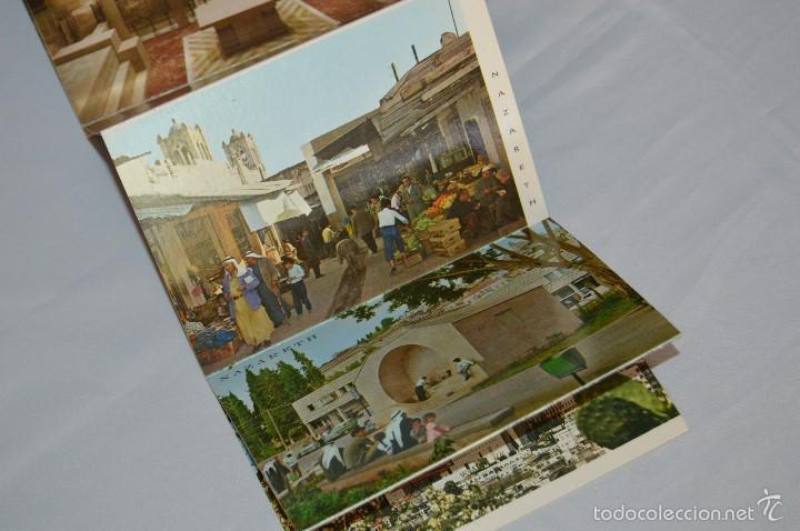 Postales: Librito, 10 Tarjetas POSTALES - Recuerdo de NAZARETH - 10 IMÁGENES EN COLOR - Foto 5 - 61256959