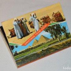 Postales: LIBRITO CON 13 FOTOGRAFÍAS A TODO COLOR DE EGIPTO - GREETINGS FROM EGYPT - MIRA LAS FOTOGRAFÍAS. Lote 61435079