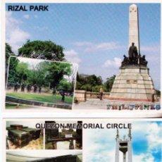 Postales: FILIPINAS. RIZAL PARK Y QUEZON-MEMORIAL CIRCLE.(SIN CIRCULAR)(16-536). Lote 62249324