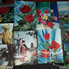 Postales: LOTE 10 POSTALES ANTIGUAS JAPÓN 3D. Lote 68031394