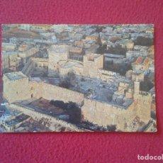 Postales: POSTAL POST CARD ISRAEL JERUSALEM JERUSALEN BIRD´S EYE VIEW FOREGROUND THE CITADEL AND JAFFA GATE . Lote 73447787