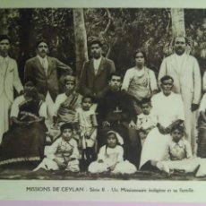 Postales: SIETE POSTALES MISSIONS DE CEYLAN MISSIONNAIRE OBLATS MARIA INMACULADA MISIONEROS. Lote 78417109