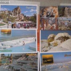 Postales: LOTE DE 6 POSTALES DE TURQUIA (2 DE CAPADOCCIA+4 DE PAMUKKALE). Lote 80375653