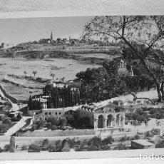 Postales: (XAS-4) ANTIGUA POSTAL FOTOGRÁFICA MT OF OLIVES & GETHSEMANE-SEMERDJIAN-JERUSALEM. HASEMITE JORDAN.. Lote 87440104