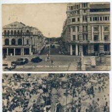 Postales: CEILÁN CEYLON SRI LANKA, COLOMBO DOS POSTALES, FESTIVAL BUSDISTA KANDY PERAHERA, AÑOS 30 REAL PHOTO. Lote 88825512