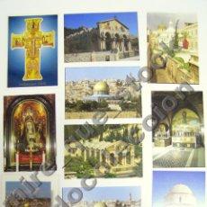 Postales: LOTE DE 10 POSTALES JERUSALÉN - SIN CIRCULAR. Lote 103344031