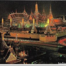 Postales: TAILANDIA - THE EMERALD BUDDHA TEMPLE AT NIGHT (BANGKOK). Lote 104310551