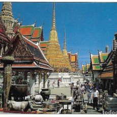 Postales: TAILANDIA - INSIDE OF THE EMERALD BUDDHA TEMPLE (BANGKOK). Lote 104310935