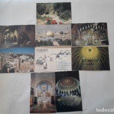 Postales: LOTE DE 9 POSTALES LUGARES DE JERUSALÉN - SIN CIRCULAR . Lote 109503503