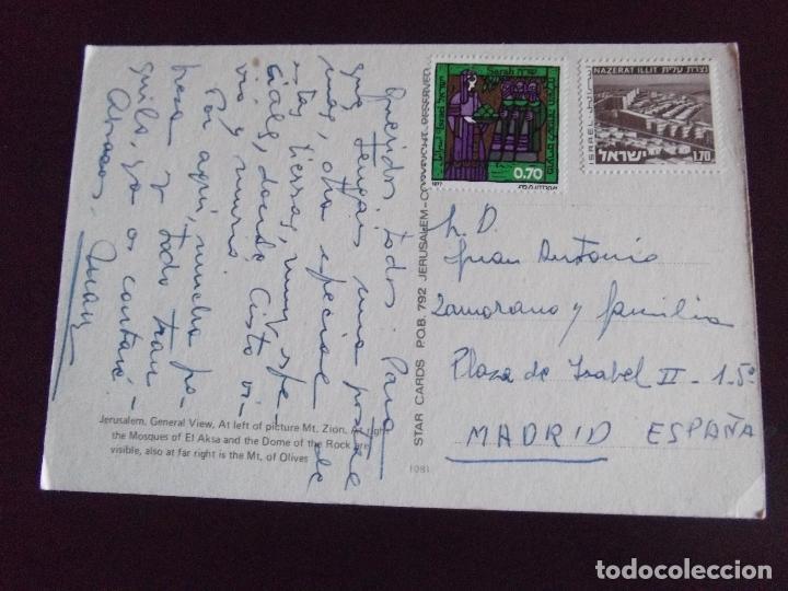 Postales: ASIA-V45-ISRAEL-JERUSALEM-GENERAL VIEW-CIRCULADA - Foto 2 - 110752575