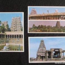 Postales: LOTE DE 3 POSTALES DE TAMIL NADU EN LA INDIA. Lote 115069407