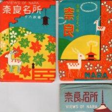 Postales: LOTE DE 62 POSTALES DE NARA - JAPÓN + CUADERNO DE 21 FOTOS DESPLEGABLES. Lote 118436531