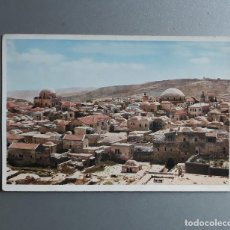 Postales: POSTAL JERUSALEM THE JEWISH QUARTER FROM NORTH BARRIO JUDIO AÑOS 30 UVACHROM A.G. MUNICH 6365. Lote 119462647