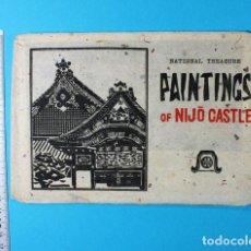 Postales: CURIOSO LOTE DE 8 POSTALES NATIONAL TYREASURE PAINTINGS OF NIJO CASTLE (KIOTO JAPON). Lote 119964423