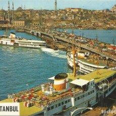 Postais: ISTANBUL (TURKIA) EL PUERTO DE GALATA - HER HAKKI MAHFUZDUR 114 - CIRCULADA. Lote 122191983
