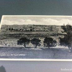 Postales: POSTAL (JERUSALEM. FROM THE MOUNT OF OLIVES ) 14 X 9CM. NO ESCRITA. PALESTINA. Lote 125140895