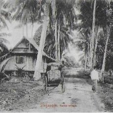 Postales: P-8561. POSTAL SINGAPORE, NATIVE VILLAGE. PRINCIPIOS S. XX. SIN CIRCULAR.. Lote 132078110