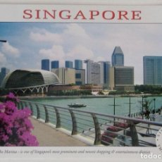 Postales: SINGAPUR SINGAPORE THE MARINA THE MERLION. Lote 134239670