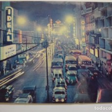 Postales: POSTAL. MANILA. A VIEW OF RIZAL AVENUE AT NIGHT. CIRCULADA EN 1964.. Lote 134401482