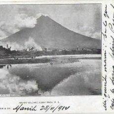 Postales: P- 8576. POSTAL MANILA, 1914. MAYON VOLCANO. CIRCULADA.. Lote 134577054