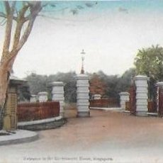 Postales: P- 8622. POSTAL SINGAPORE, ENTRANCE TO THE GOVERNMENT HOUSE.. Lote 135214950