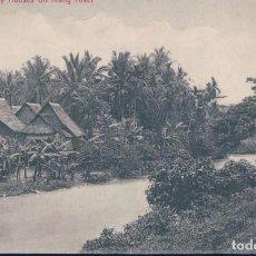 Postales: POSTAL MALASIA - MALAY HOUSES ON KLANG RIVER. Lote 135778494