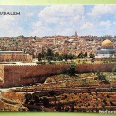 Postales: JERUSALÉN. VISTA DESDE EL MONTE DE LOS OLIVOS. NUEVA. COLOR. Lote 139383809