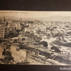 Postales: BOMBAY INDIA VIEW FROM CLOCK TOWER. Lote 140606954