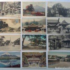 Postales: JAPON * LOTE DE 12 ANTIGUAS POSTALES * L-2. Lote 142944538