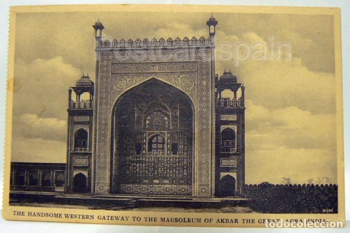 INDIA THE HANDSOME GATEWAY TO THE MAUSOLEUM OF AKBAR THE GREAT - AGRA (Postales - Postales Extranjero - Asia)