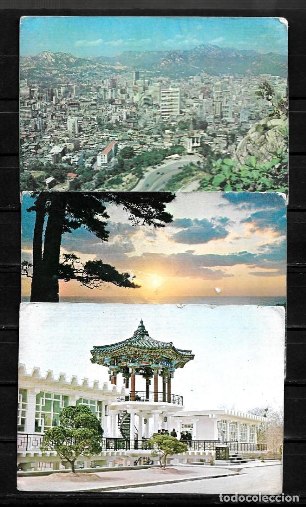 COREA DEL SUR LOTE DE 3 POSTALES SIN CIRCULAR (Postales - Postales Extranjero - Asia)