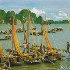 Postales: VIETNAM, LA BAHIA HA LONG (LA BAHIA DEL DRAGON) - DORSO EXPLICATIVO. Lote 151658446