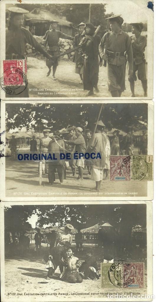 (PS-60092)LOTE DE 5 POSTALES DE INDOCHINA-EJECUCION CAPITAL.DECAPITACION (Postales - Postales Extranjero - Asia)