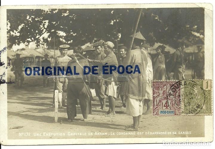 Postales: (PS-60092)LOTE DE 5 POSTALES DE INDOCHINA-EJECUCION CAPITAL.DECAPITACION - Foto 3 - 159675962